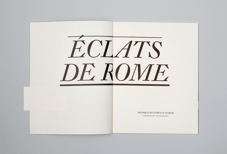 Publication, no 3 : Éclats de Rome, double page