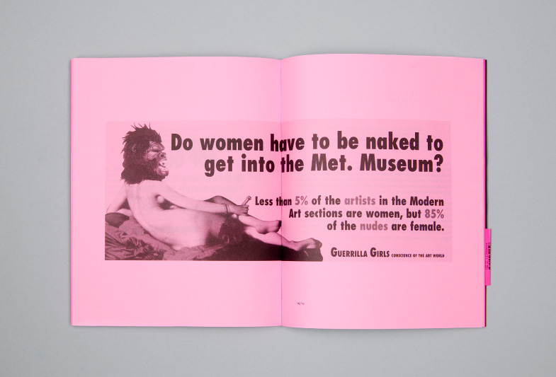 Publication, no 4 : Guerillas Girls, double page