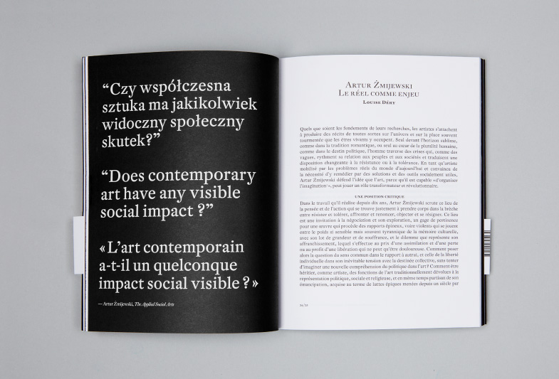Publication, no 6 : Artur Żmijewski, double page